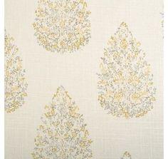 John Robshaw Collection Kedara Fabric, Lemongrass»