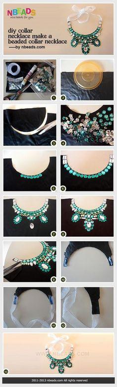 DIY Jewelry: DIY Collar Necklace Make A Beaded Collar Necklace Nbeads
