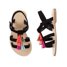 Toddler Girls Black Tassel Sandals by Gymboree Toddler Girl Shoes, Baby Girl Shoes, Toddler Outfits, Girls Shoes, Kids Outfits, Toddler Girls, Shoe Stores Near Me, Kids Shoe Stores, Kids Clothes Uk