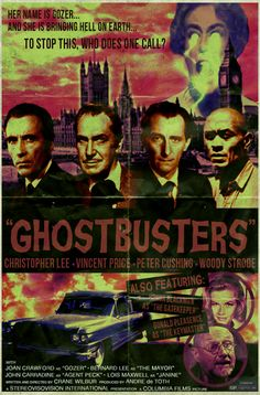 Christopher Lee, Vincent Price and Peter Cushing in Ghostbusters