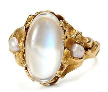@Denise H. vanderburgh...thought of you!  Handmade 20th C. Moonstone Pearl Delight