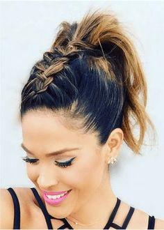 Braided Hairstyles: The Top Braided Styles – Stylish Hairstyles Holiday Hairstyles, Hairstyles For School, Medium Hair Styles, Curly Hair Styles, Hair Express, Messy Short Hair, Top Braid, Cool Braid Hairstyles, Grunge Hair