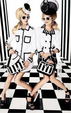 Hanne Gaby Odiele & Juliana Schurig for Vogue Japan