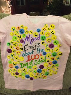 Mixed Emojis About the 100th Day of School