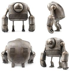 """SpankyStokes.com   Vinyl Toys, Art, Culture, & Everything Inbetween: Introducing """"Strong-bot"""" from Onorio D'Epiro and Scott Brimley"""