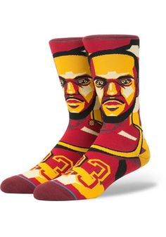 LeBron James Cleveland Cavaliers Future Legends Mens Crew Socks