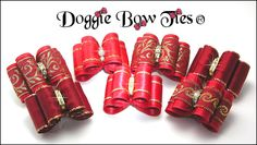 Full Size Red Show Dog Bows by Doggie Bow Ties! For a huge selection of just red show bows, visit my website RED SHOW DOG BOWS Page especially for YORKIES!