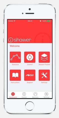 iOS Shower App on Behance