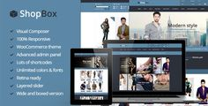 ShopBox – Responsive WooCommerce Theme, is a stylish yet simple Ecommerce theme that is fully responsive and retina ready.