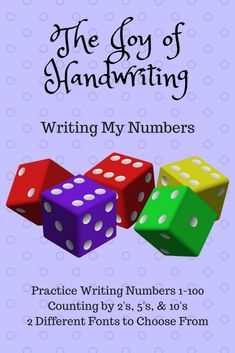 Great set of printables for practice in writing and learning numbers. They also include count-bys! Improve Your Handwriting, Improve Handwriting, Nice Handwriting, Writing Numbers, Learning Numbers, Kids Writing, Start Writing, Hand Writing, Penmanship Practice