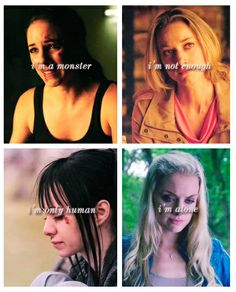 Lost Girl: Bo Dennis, Lauren Lewis, Kenzi Malikov, and Tamsin  omfg. this hit hard.