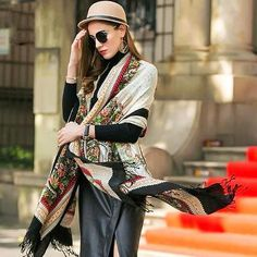 Plaid Blanket Cashmere Pashmina Shawl