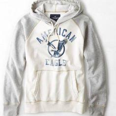 New American Eagle Mens Raglan Hoodie - Medium Brand new American Eagle Outfitters Sweaters