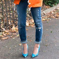 Pin for Later: 6 Façons de Retrousser Vos Jeans On Retrousse à Moitié Cet ourlet peut être fait sur un jean slim ou boyfriend. On aime ce modèle DSquared2 (470€, soldé à 398€).
