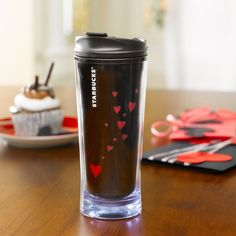 Starbucks Coffee Love Tumbler - the hearts appear when there's a hot drink inside Starbucks Tumbler, Starbucks Coffee, Coffee Love, Coffee Cups, Coffee Coffee, Cute Mugs, Mug Cup, Drinking Tea, Tea Pots