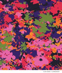 Cuica // Allison Holdridge #abstract #floral #textile #pattern