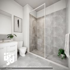 32 Rustic to Ultra Modern Master Bathroom Ideas to Inspire Your Next Renovation - The Trending House Modern Master Bathroom, Contemporary Bathrooms, Modern Bathroom Design, White Bathroom, Bathroom Interior Design, Modern Design, Luxury Bathrooms, Interior Ideas, Classic Bathroom