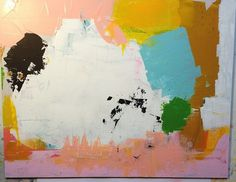 small abstract painting by ashley g