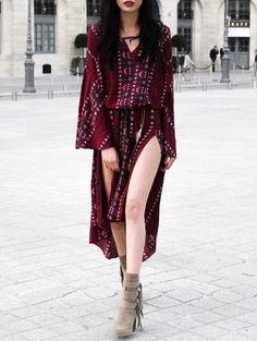 GET $50 NOW | Join Zaful: Get YOUR $50 NOW!http://m.zaful.com/tribal-print-high-slit-dress-p_203735.html?seid=1343046zf203735
