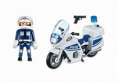 Motard de police avec lumière clignotante - PLAYMOBIL® France