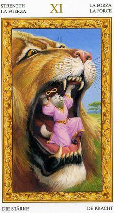 Strength Tarot, The Magician Tarot, The Moon Tarot, Tarot Major Arcana, Oracle Tarot, Tarot Card Decks, Tarot Spreads, White Cats, Sacred Art