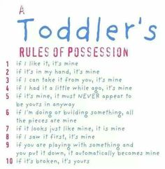 Children's rules