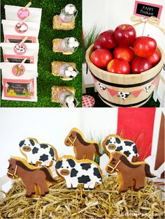 Barnyard birthday party with DIY decorations, printables, desserts ideas and favors for boy and girls any age! - BirdsParty.com @birdsparty