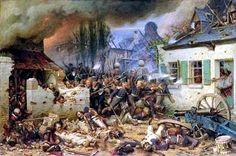The Battle of Waterloo 18th June 1815/The Prussian Army fights through the village of Plancenoit