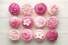 Pink cupcakes [photo only]