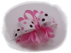 Boutique hair bows, loopy hair bows, resin center hair bows ...