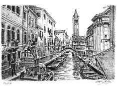 Venice, Italy - drawings and paintings by Stephen Wiltshire MBE