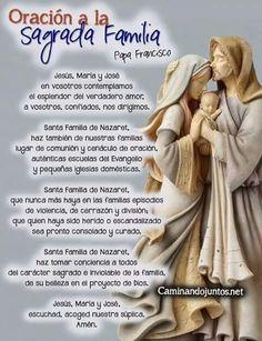 ORACIÓN A LA SAGRADA FAMILIA!!