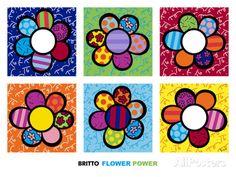 Flower Power Multi Pósters por Romero Britto en AllPosters.es