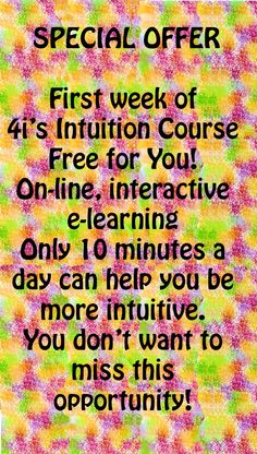 Special #Offer! First week of #intuition course free! http://www.forward-change.com/150-how-to-be-more-intuitive