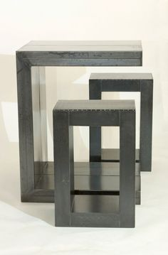 Steel Modular Table With Benches   Ben Roth Design