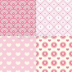 Set of cute seamless patterns — Stock Illustration #13953444