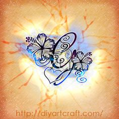 capital G #hibiscus #heart