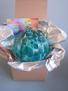 Hand Blown Art Glass Christmas Ball/Suncatcher/Ornament by Rebecca Zhukov