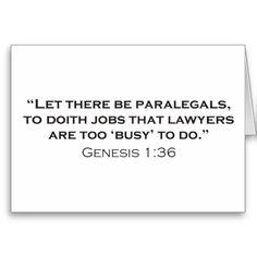 **calling all Paralegals***?