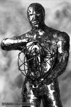 NUMAN  sculpture métal humain humaine art artiste contemporain works