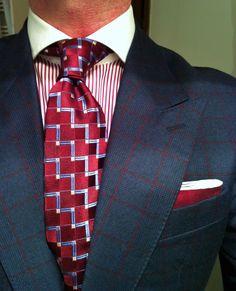 Checked suite tie