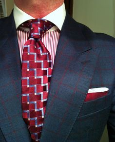 Checked suite & tie