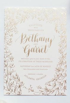 Gold Foil Wedding Invitations | Brides.com