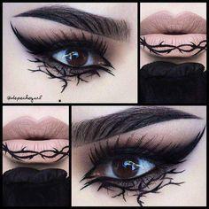 Edgy Makeup, Gothic Makeup, Dark Makeup, Crazy Makeup, Fantasy Makeup, Makeup Inspo, Makeup Art, Makeup Inspiration, Makeup Tips