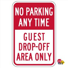 Visitor Parking Sign 12 x 18 Heavy Gauge Aluminum Signs