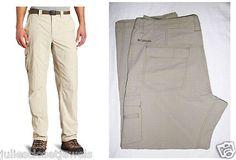 "*HELP SAVE SEA TURTLES* NEW Men's Columbia Sportswear Omni-Shield Cool Creek Stretch Cargo Pants 38 X 30 (in ""Tusk"" ?)"