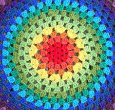 Free pattern for a 'granny round.'