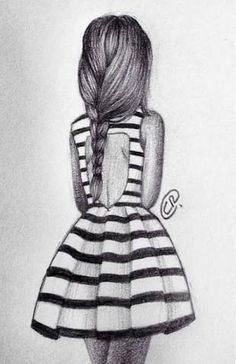 drawings of girls in dresses - Google Search