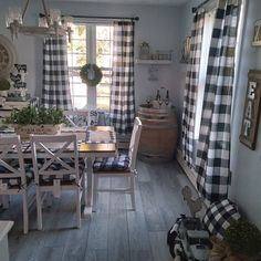 Burlap Curtains, Cotton Curtains, Panel Curtains, Buffalo Plaid Curtains, Buffalo Check Curtains, Black White Curtains, Coffee Bars In Kitchen, Grey Table, Curtains For Sale