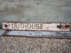 Rustic Distressed Outhouse Bathroom Wood Lodge Cabin Sign on Etsy, $68.99
